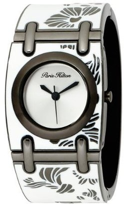 Paris Hilton Women&#39;s 138.5135.60 Bangle Epoxy White Dial Watch - Watches