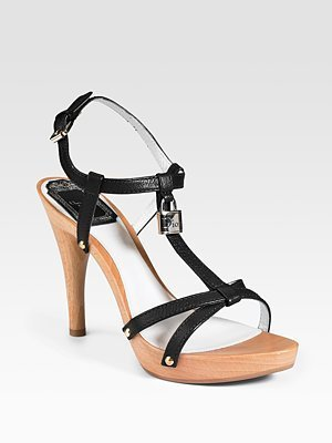 Dior Padlock Leather Sandals - Heels