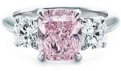 Fancy Intense Purplish Pink diamond ring - Diamond Ring