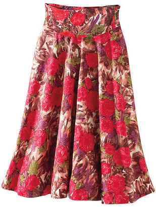 Floral-print swing skirt - Clothes