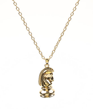 Disney Couture 'Alice In Wonderland' 14ct Gold Plated Knight Pendant Necklace - Gold Pendant Necklaces