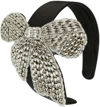 Beaded Bow Headband - Hair Bow