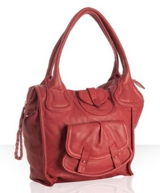 Bulga Brera red leather &#39;Kafka&#39; shoulder bag - Shoulder Bags