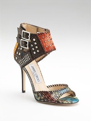 Jimmy Choo Elapheskin &amp; Eelskin Sandals - Heels