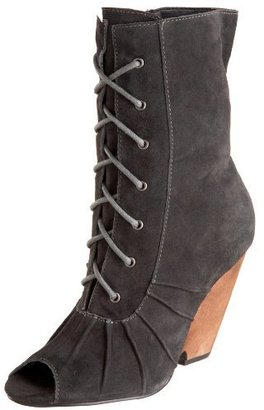 Restricted Women&#39;s Carmen Wedge Lace Up Bootie - Heels