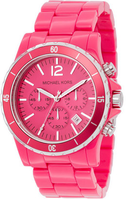 Michael Kors Oversized Acrylic Watch, Pink - Must Have Michael Kors Watches