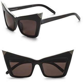 Alexander Wang Pointed Cat Eye Sunglasses - Retro Cateye Sunglasses
