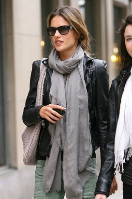 muubaa Cion Fitted Leather Biker Jacket - as seen on Alessandra Ambrosio - Clothes