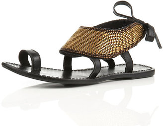 FREEDOM Gold Bead Sandals - Ethnic Beaded Sandals