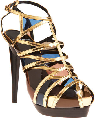 Pierre Hardy Platform T-Strap Sandal - Gold - Dress Like Demi Lovato