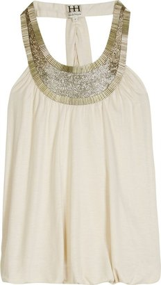 Haute Hippie Jeweled Collar Tank - Clothes