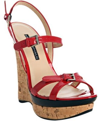 Rock &amp; Republic red patent &#39;Marlow&#39; wedge sandals - Heels