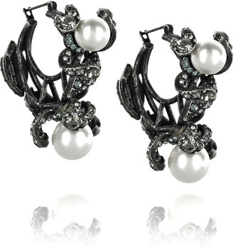Lanvin Fleur Strassee crystal hoop earrings -  Luxurious Lanvin Jewelry