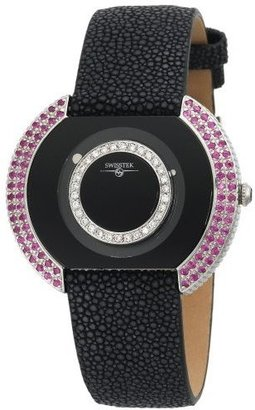 Swisstek Women's SK47731L Mirage Limited Edition Diamond Sapphire Watch - Wild Watches