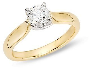 1 Carat Diamond I1/I2 I/J 14K Two Tone Gold Ring - Diamond Ring