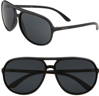 Prada Vintage Inspired Resin Aviator Sunglasses - Aviator Sunglasses