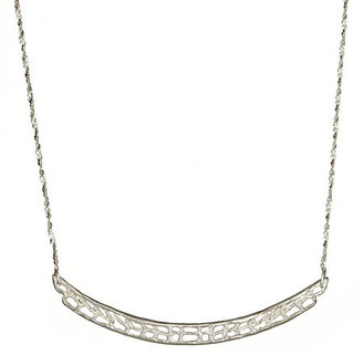 Catherine Weitzman Coral Bar Silver Necklace - Sterling Necklaces