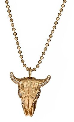 Love Rocks NY Cow Skull Charm Necklace - Curiously Creepy Jewels