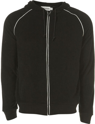 Black terry towelling hoody - Dress Like Drake 