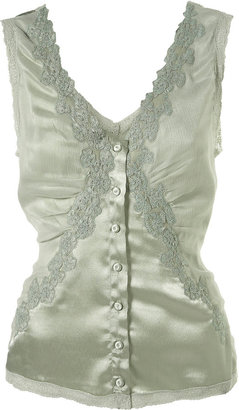 Lace And Silk Cami - Clothes