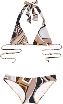 Emilio Pucci Printed halterneck bikini - Swimwear