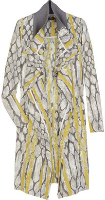 Anna Molinari Printed silk-blend trench - Raincoat