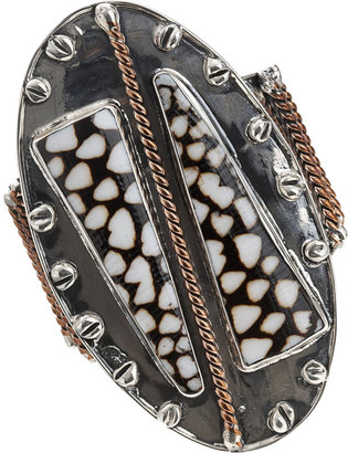 Anndra Neen Oval Shell Cuff - Seaside Accessories