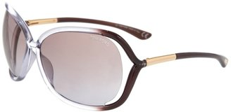 TOM FORD - Plastic sunglasses with extended rims and gold-tone detailing - Sunglasses