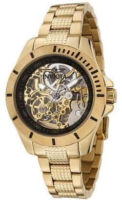 Invicta Women&#39;s 0120 Pro Diver Collection Mechanical Skeleton Gold-Plated Stainless Steel Watch - Rebecca Minkoff&#39;s Easy Style