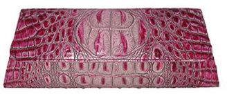 Pink Clutch #6 - Pink Croc Clutch from Jalda | Pink Handbags Blog :  pink clutch pink handbags croc clutch