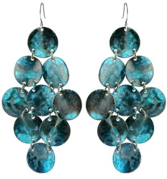 Patina Shell Chain Earrings - Seaside Accessories