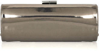 Jimmy Choo Tube metallic leather clutch - Handbags