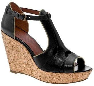Mrkt Calista Leather Wedge Sandal - Heels