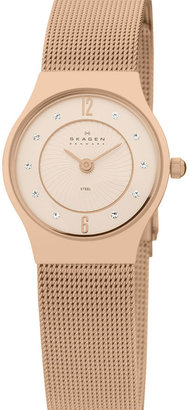 Skagen Round Mesh Strap Watch - Rose Gold Watches