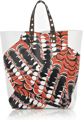 Marni Printed PVC tote - Printed Leather Handbags