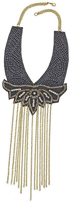 Embellished Bib Necklace - Statement Necklace