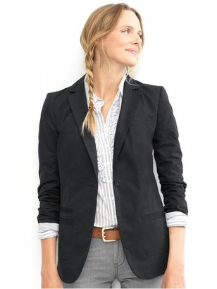 Cotton boyfriend blazer - Banana Republic