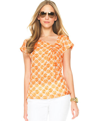 MICHAEL Michael Kors Abstract Tie Dye Blouse - Michael Kors Spring 2010