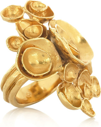 Yves Saint Laurent Arty gold-plated flower ring - Decorative Rings