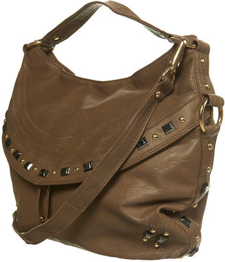 Leather Mixed Stud Flap Bag - Shoulder Bags