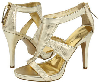 Nine West - Lava (Gold Leather/Gold Multi) - Shimmery Gold Sandals