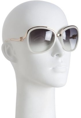 Balenciaga gold metal detail oversized round sunglasses - Balenciaga