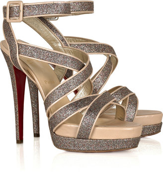 Christian Louboutin Straratata 140 glitter sandals - Dress Like Carrie Underwood