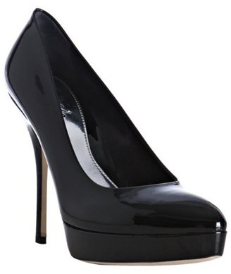 Gucci black patent leather 'Sofia' platform pumps - Heels