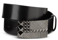 Engraved Check Stud Belt - Accessories