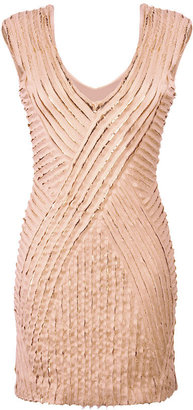 Roberto Cavalli Nude Sequined Seamless Dress - The Little Nude Dress