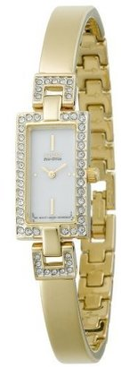 Citizen Women's EG2382-51A Eco-Drive Silhouette Crystal Accented Gold-Tone Bangle Watch - Beautiful Bracelet Watches