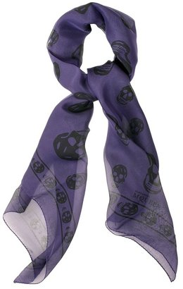Violet/black Skull Scarf - Alexander McQueen Scarves