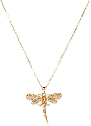 Kate Spade 'mother's Day' Dragonfly Pendant Necklace - Gold Pendant Necklaces