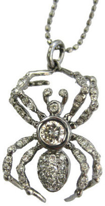 Sydney Evan Diamond Spider Necklace - Curiously Creepy Jewels